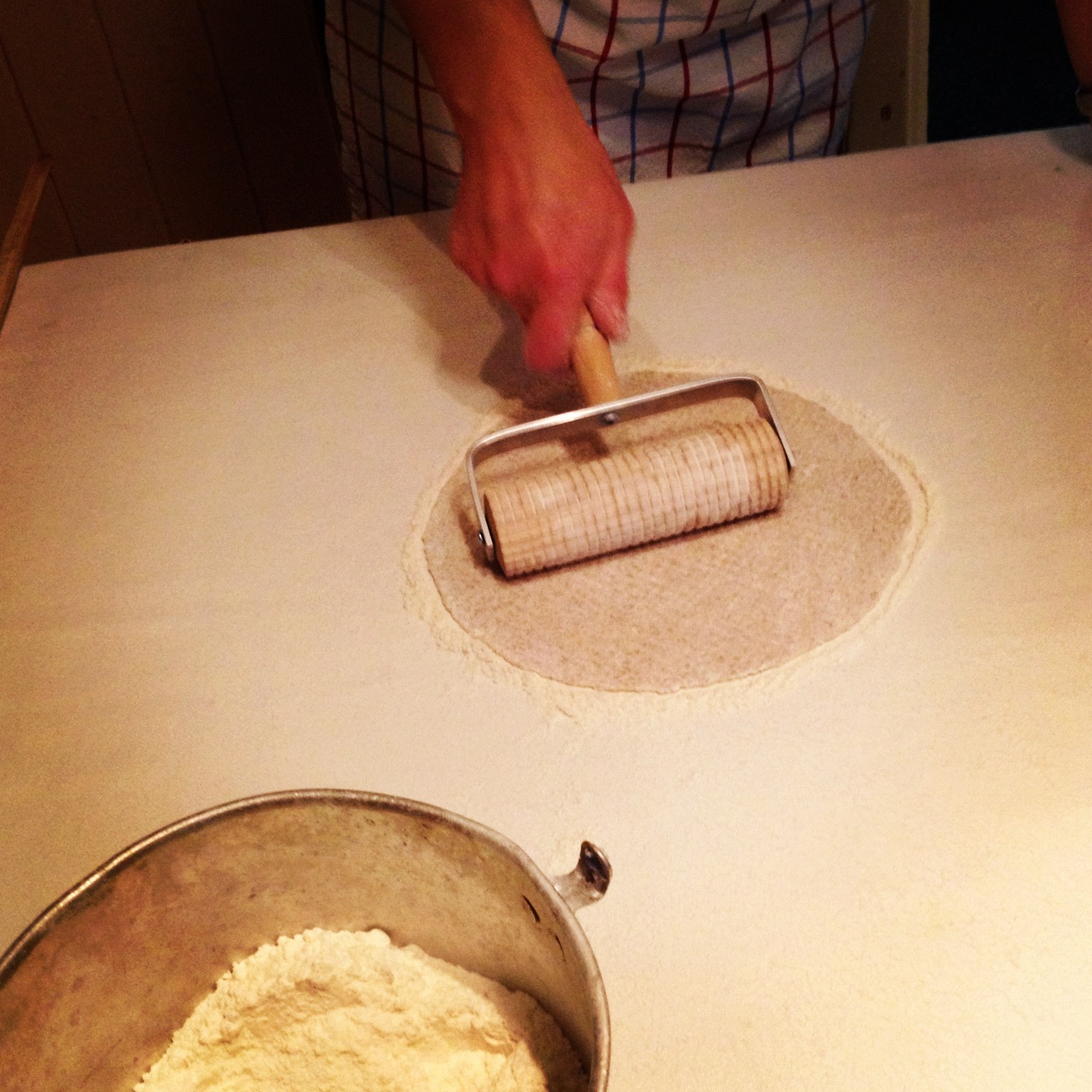 Cecilie Moestue Baking Traditional Norwegian Lefse At Skjerven Farm Oslo